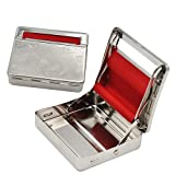 Rolling Machine Metal Red Cloth Automatic Cigarette Tobacc Roller Box & Storage Box 70mm