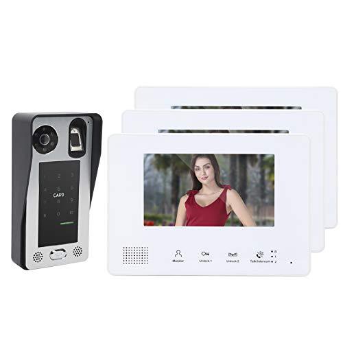 Videoportero con cable, timbre con intercomunicador ajustable Anti-oxidación flexible Durable para interiores