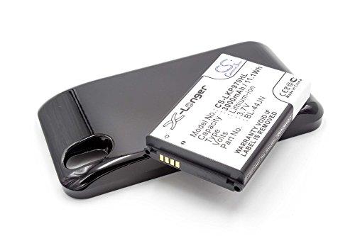 Batería LI-ION duración EXTENDIDA 3000mAh compatible con LG Optimus Black, P970, P 970 sustituye BL-44JN con tapa trasera en negro.