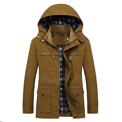 FRAUIT Herren Lange Mantel Herbst Winter Warm Jacke Slim Trenchcoat Windbreaker Daunenjacke Super Qualität M-5XL