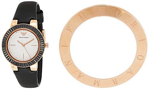 Emporio Armani Reloj Analogico para Mujer de Cuarzo con Correa en Piel AR80027
