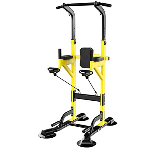 Klimmzugstationen Freistehendes Stehen Dip-Station Power Tower Pull-up-Bar Fitnessgeräte Krafttraining for Home Gym 990 Gewicht Kapazität (Size : C-Yellow)