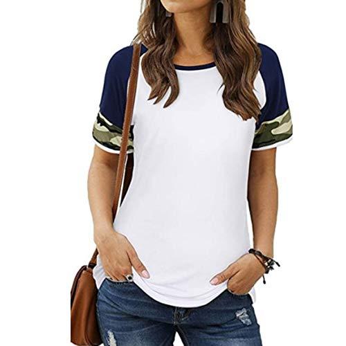 Kpasati Damen Tarnung Farbstiche T Shirt Grundlegende Baumwolle Sommer Neue Lose T-Shirt Korean O Hals Weiblich Tops