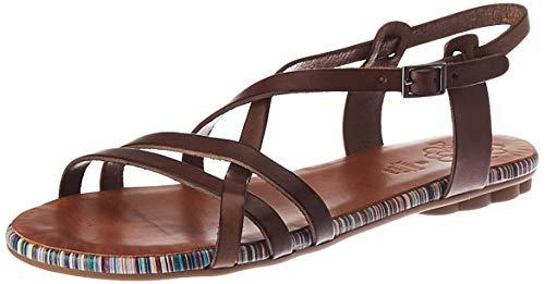 Porronet Malina, płaskie sandały damskie, Moka - 40 EU
