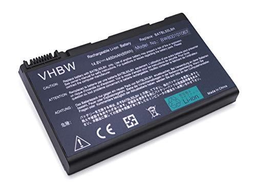 vhbw Li-Ion batería 4400mAh (14.8V) para Notebook Acer Aspire 3690 Serie, 3692WLCi,...