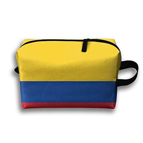 Bandiera Della Colombia Borsa da Toilette portatile da viaggio con custodia cosmetica per Borsa da Toilette