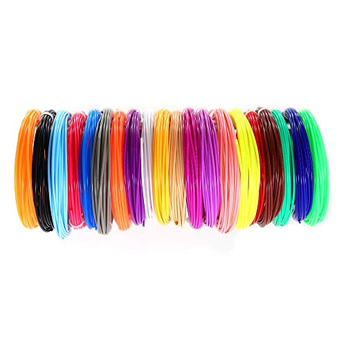 Pla Pen Filament 1.75mm 3d 1.75mm 20 Farben 3D Pen Kunststoff PLA Filament for 3D-Druck-Feder-3D-Drucker 03 (Color : 20Color 5M PLA)