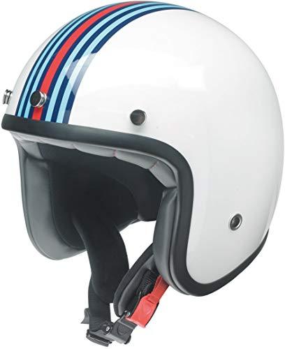 Kochmann Redbike Motorradhelm M weiß blau rot RB 768 Motorrad Roller Helm