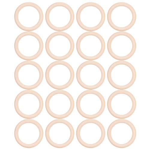 Pinsofy Aro de dentición de Madera, Material de Madera de Calidad alimentaria, no tóxico y no Peligroso.(70mm)