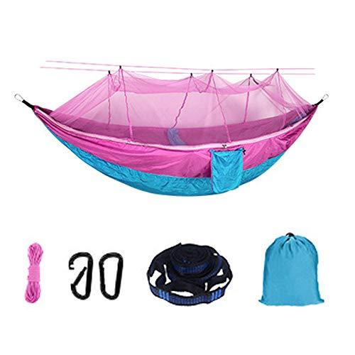 YSCYLY Lichtgewicht Camping Hangmat,260 * 140CM Met muskietennet, Ideaal Hangmat Tent Voor Camping, Backpacking, Kayaking & Reizen