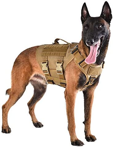 ICEFANG Tactical Dog Operation Harness with 6X Buckle Dog Molle Vest with Handle 3 4 Body Coverage product image