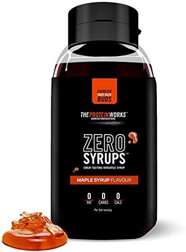 Zero Syrups | Kalorienfreie, Zuckerfreie, Kohlenhydratfreie, Fettfreie, Schuldfreie Dessertsoße | THE PROTEIN WORKS, Ahornsirup, 600ml