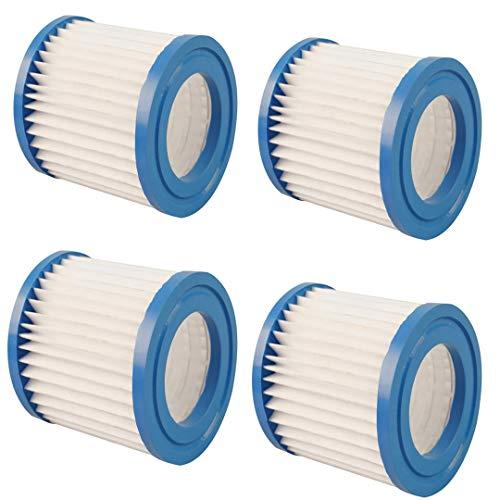 RASHION Summer Waves Pool cartouches filtrantes en papier Cartouche filtrante pour systèmes de pompe de filtration avec 300/330 gal / h (4 PCS)