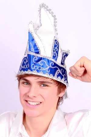 Prinzenmütze Komiteemütze Elferratsmütze blau-weiss-silber bis KW 63