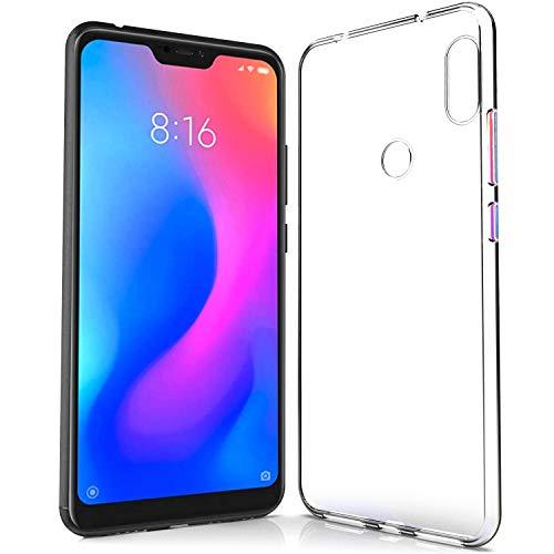 NewTop Custodia Cover Compatibile per Xiaomi Mi A1/A2/A2 Lite/A3, Morbido TPU Clear Protettiva Gel Silicone Trasparente Slim Sottile Flessibile Back Case Posteriore (per Mi A2 Lite)