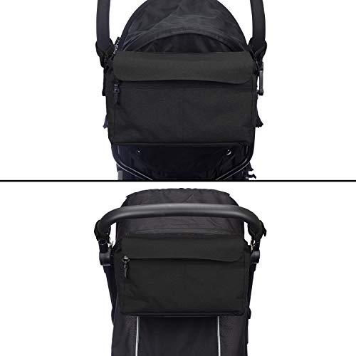 Bolsa organizadora XL para cochecito o silla de paseo de BTR. Negro