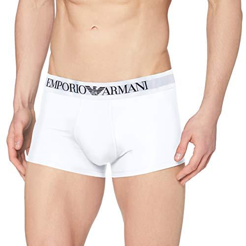 Emporio Armani CC729 111389_00010 Bóxer, Blanco (White), Medium (Tamaño del Fabricante:M) para Hombre