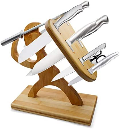 Spartan Knife Set Kitchen Knife Block Set Universal Wood Knife Holder Creative Humanoid Maple product image
