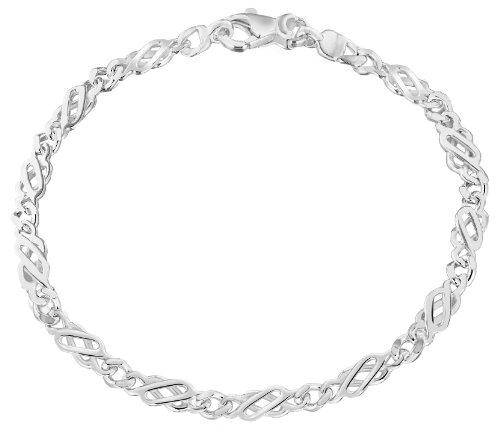 Tuscany Silver Pulsera de Plata de Ley para Mujer 18 cm
