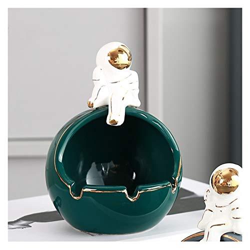 SHUTING2020 ceniceros Inicio Ashtray Forma Creativa Cenicero de cerámica con Tres Ranuras para Tarjetas de Cigarrillos para cumpleaños La Mejor opción ceniceros sobremesa (Color : A)