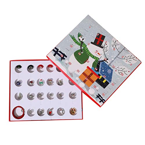 Einsgut Kerstmis Adventskalender DIY armband halsketting set met 24 charms Fashion Jewelry Countdown Advent Kalender voor kinderen Kerstmis cadeaus