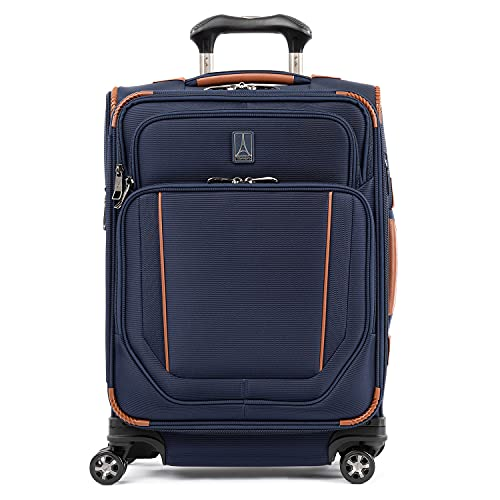Travelpro Crew Versapack Softside Expandable Spinner Wheel Luggage, Patriot Blue, Carry-On 21-Inch
