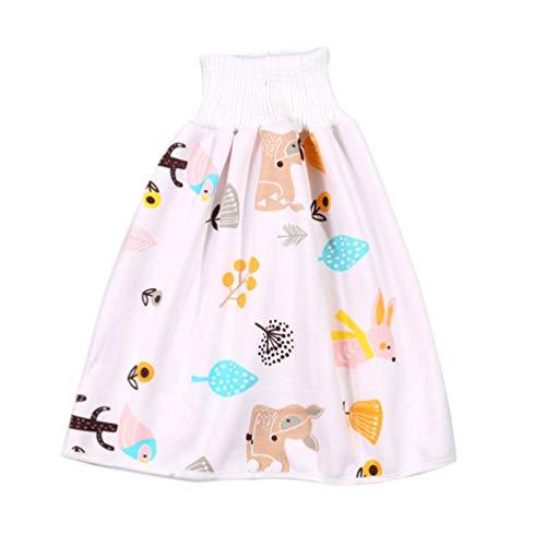 Supvox Töpfchen Unterwäsche Baby Pee Trainingsrock Waschbar Wasserdicht Wiederverwendbar Töpfchen Windelhose Toliet Windeln für Kleinkinder (Hirsch)