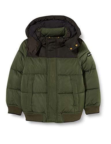Scotch & Soda Shrunk Boys Recycelte Steppjacke Jacket, Military 0360, 12