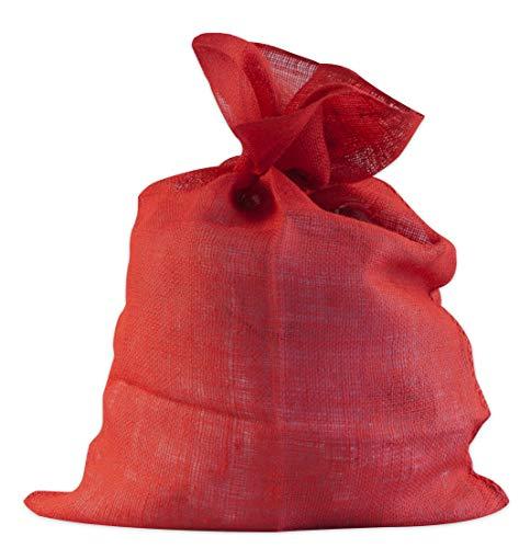Windhager ÖKO, Jute, Stoff, Kartoffel-Sack, Deko-Beutel, Multifunktionaler Jutesack, Winterschutz für Topf-& Kübelpflanzen, rot, 70 x 100cm, 06070