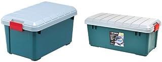 『 ボックス RVBOX 600 グレー/ダークグリーン 幅61.5×奥行37.5×高さ33cm』と『 ボックス RVBOX 800 グレー/ダークグリーン 幅78.5x奥行37x高さ32.5cm』のセット