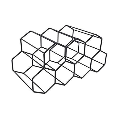 Max-Tonsen Estante de vino moderno de panal de metal para botellas de vino de almacenamiento de colmena de abeja
