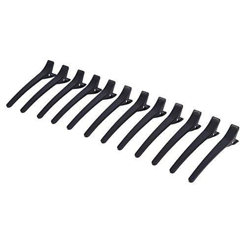 Pinzas para el pelo, 12pcs/set profesional Duck Teeth Arcos abrazadera boca horquillas seccionamiento peluquería, cocodrilo herramienta de peinado para mujeres, niños, bebés y niñas