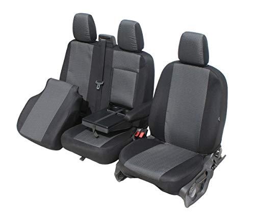 LT T6 CRAFTER 2+1 T5 schwarz-grau WINGS Schonbezüge Sitzbezüge für VW T4