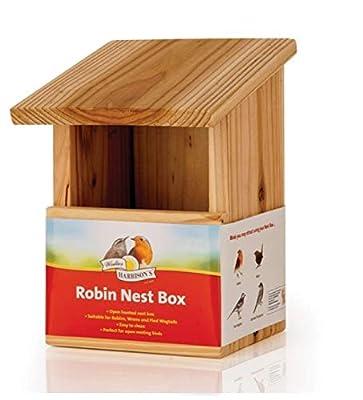 Harrisons - ROBIN NEST BOX - FIR WOOD - Open Fornt x1 from Harrisons