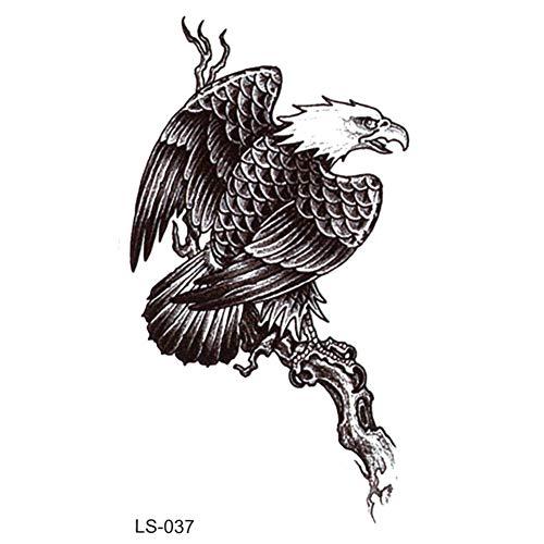 EROSPA® Tattoo-Bogen temporär / Sticker - Adler auf Baum - Wasserfest