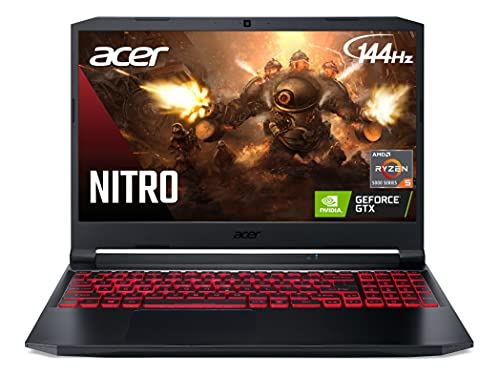 Acer Nitro 5 AN515-45-R83Z Gaming Laptop, AMD Ryzen 5 5600H Hexa-Core Processor | NVIDIA GeForce GTX 1650 | 15.6″ FHD 144Hz IPS Display | 8GB DDR4 | 256GB NVMe SSD
