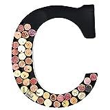 Soporte de metal para corcho de vino, monograma, para pared decorativa (C)