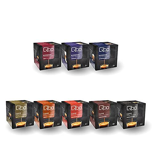 Tchibo Qbo Probierset, verschiedene Sorten Caffè und Espresso, 64 Stück (8x8 Kaffeekapseln), nachhaltig & aluminiumfrei
