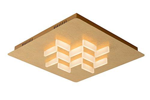 Lucide 26185/36/10 Anniston Plafonnier, Métal, LED intégré, 30 W, Or, 45 x 45 x 7 cm
