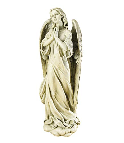 Roman Joseph's Studio Praying Angel Statue, 36H, Garden Collection, Resin and Stone, Decorative, Religious Gift, Home Outdoor and Indoor Decor, Durable, Long Lasting