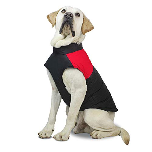 Aexit Hund Regenmantel mit Kapuze Haustier Hund Kleidung wasserdichte Haustier Weste Jacke Haustier Jacke Red_3XL