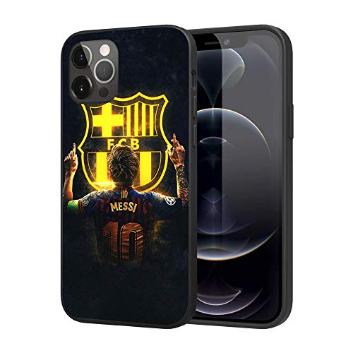 iPhone 12 Pro Max Hülle, Basketball Star Case Cover iPhone Hülle, 6,7 Zoll (Messi)