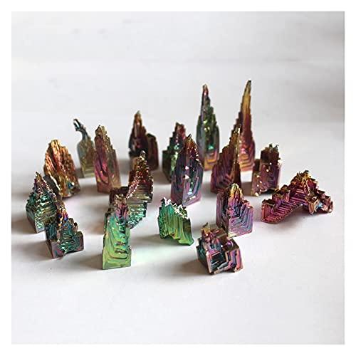 YSJJLRV Pierre Brute 10-20g Naturel Metal Metal Stone Pierre Bismuth Fraise Pyramide Beau Cadeau Beau Cadeau Rainbow Bismuth Specimen Cristal 1pcs Guérison (Size : 10 20g)
