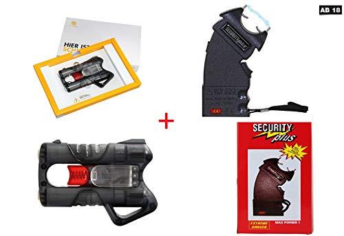 KOSxBO Elite Set Elektroschocker + Guardian Angel 3 Pfefferspray Pistole (mit PTB) Tierabwehrgerät