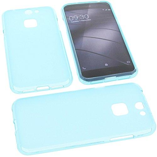 foto-kontor Tasche für Gigaset Me Pure Gummi TPU Schutz Handytasche blau