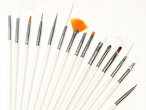 Set 15 Pennelli fini per unghie ricostruzione nail art