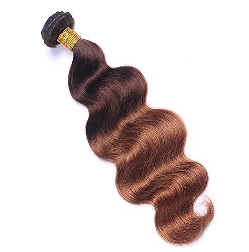 Extension De Cheveux Vraie Perruque Brésilienne 18-24 Pouces Peuvent être Teints Mode Femme En Cheveux Dégradé Brun Doré,24inches