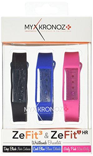 MyKronoz 813761021517'zefit3/zefit3hr Pack–3Bracelets–Classic Smart Watch Braccialetto di Ricambio