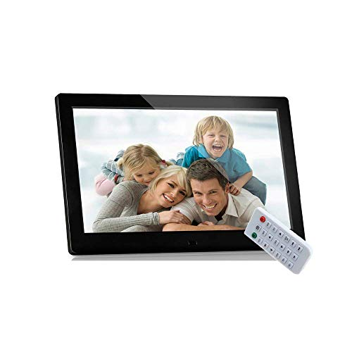 Marco de fotos digital, 12 pulgadas 1280 & times; 800 de alta resolución con control remoto para SD, USB Varios modos de visualización Reproductor de MP3 / MP4 Máquina de publicidad multifunción con