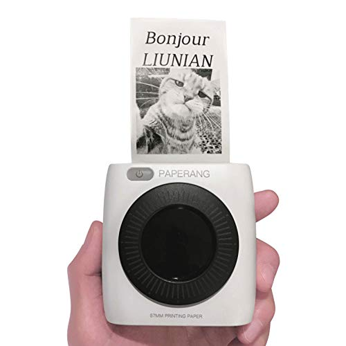 3Rolls Papier Dimprimante Photo Bluetooth Sans Fil Portable en Blanc Papier Thermique pour Mini imprimante